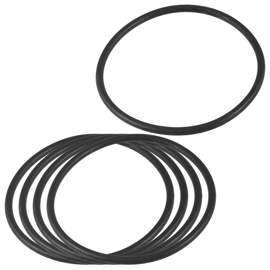 5 Pcs Nitrile Rubber O Ring Oil Sealing Gasket Black 85mm x 4mm