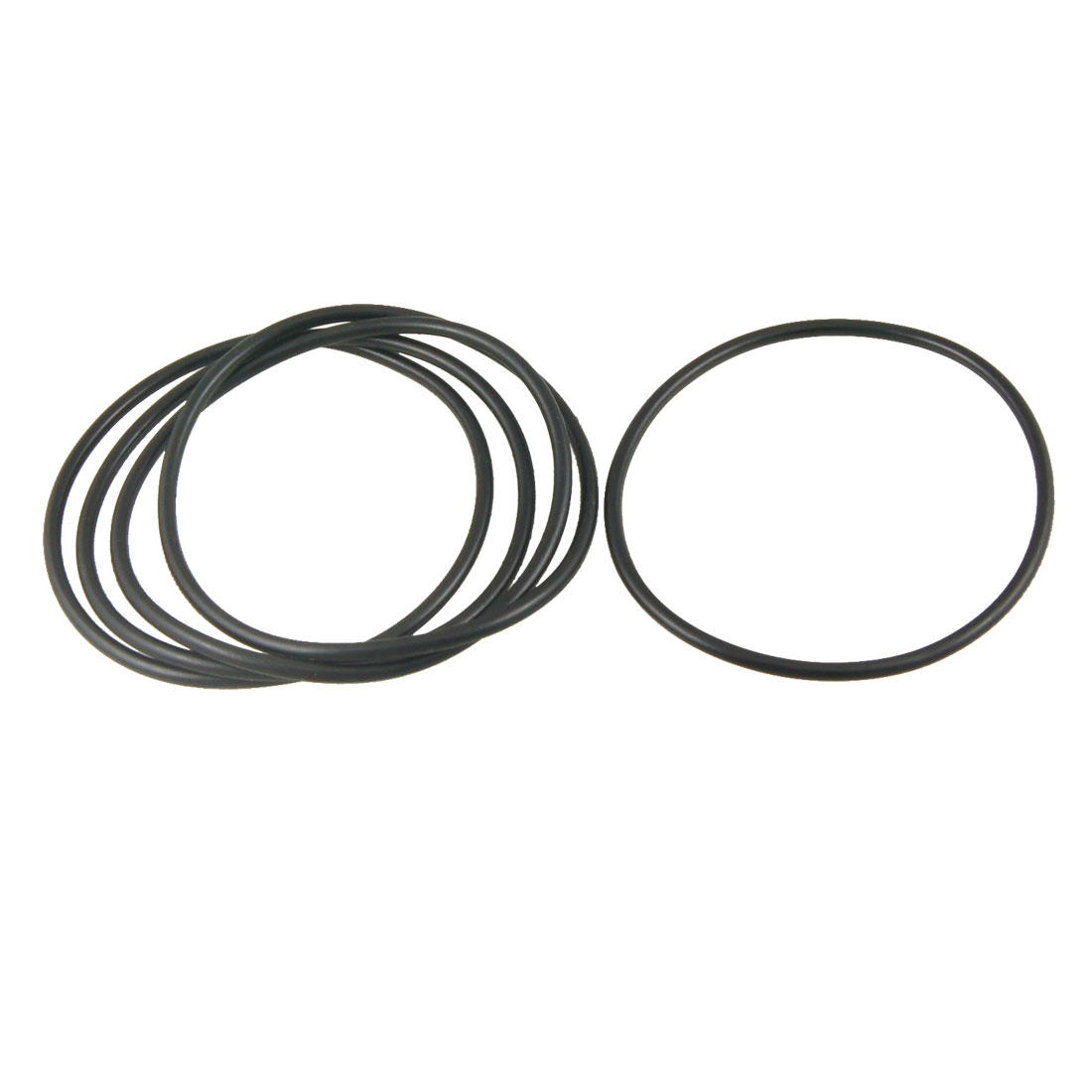 5 Pcs Nitrile Rubber O Rings Oil Sealing Gasket Black 100mm x 4mm