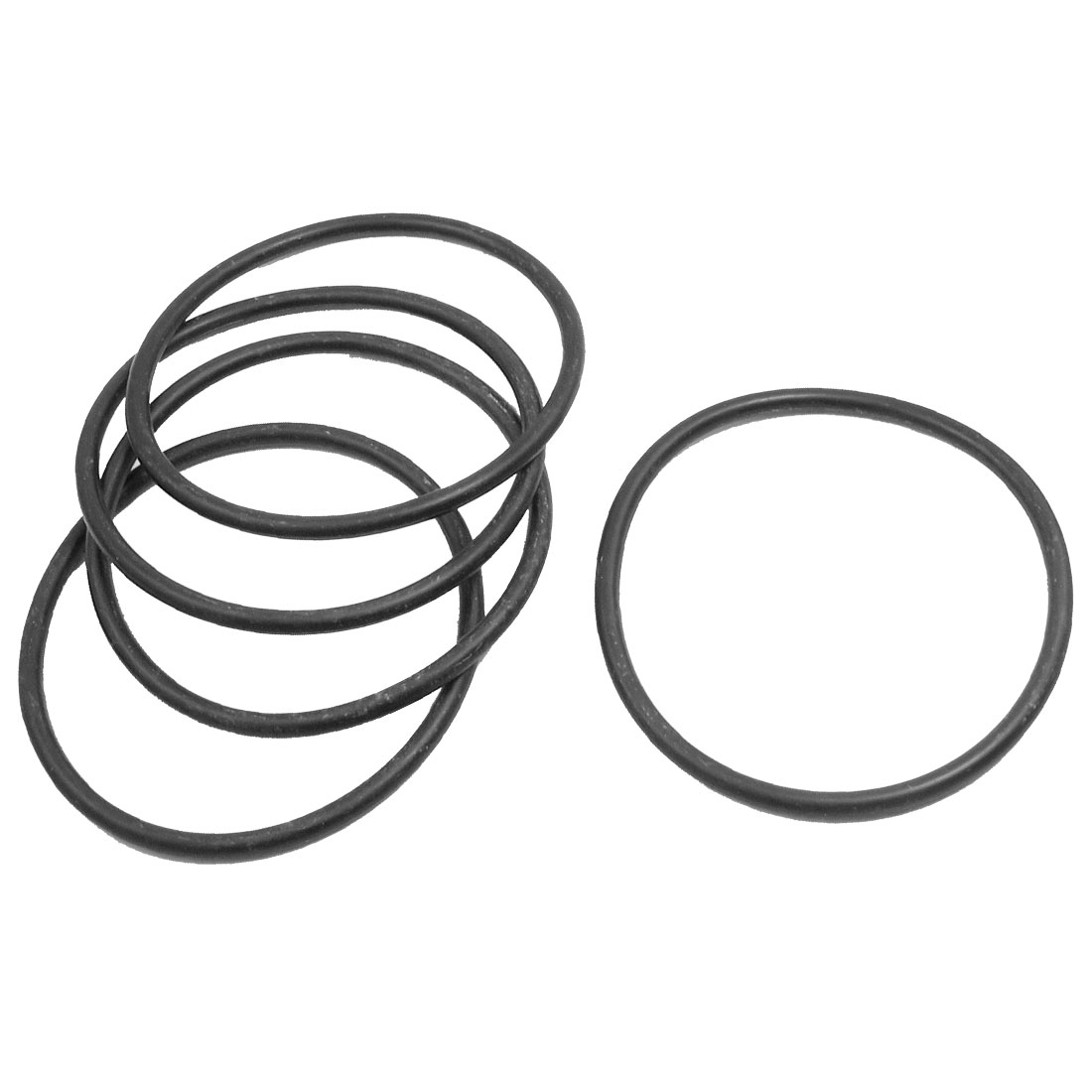 5 Pcs 75mm x 4mm Flexible Sealing Washers Oil Filter O Rings Black