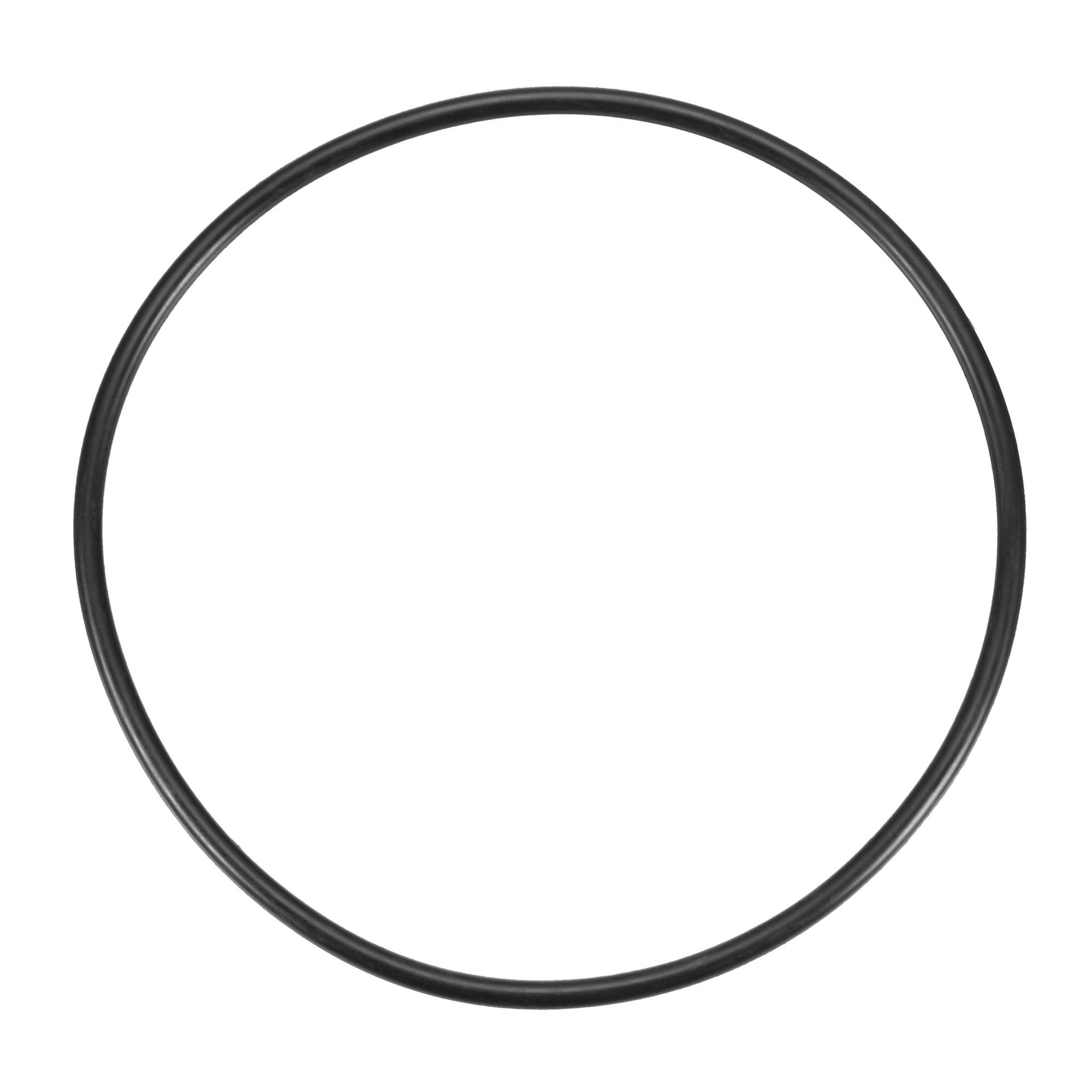 130mm x 4mm Industrial Flexible Rubber Sealing Oil Filter O Rings Gaskets Black