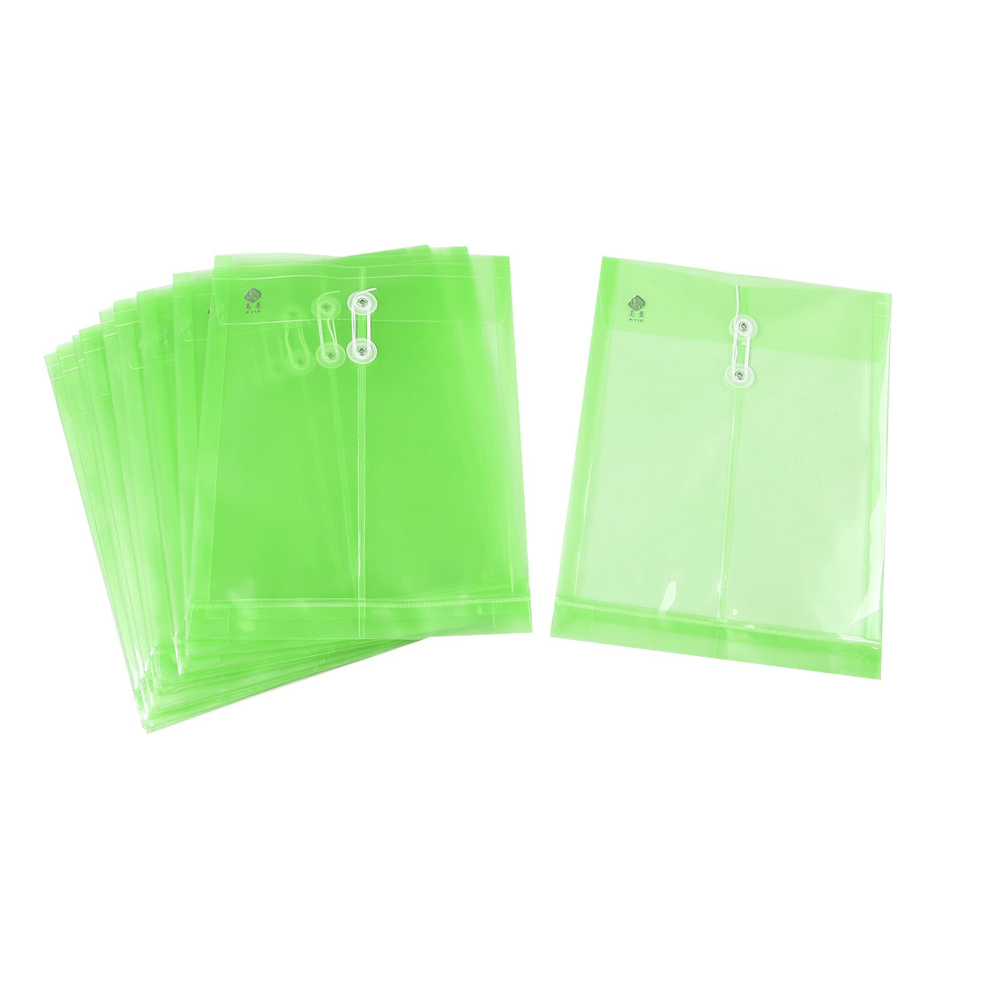 10 Pcs Green A4 Paper Documents File Folders w String Fastener