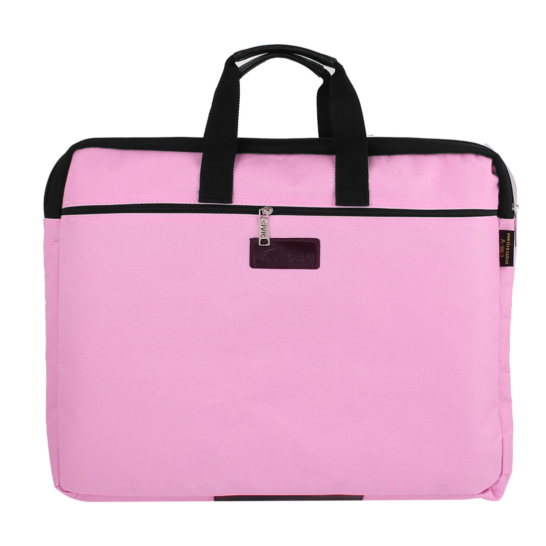 "14"" 14.1"" Pink Nylon Sponge Meshy Zipper Notebook Laptop Sleeve Bag"