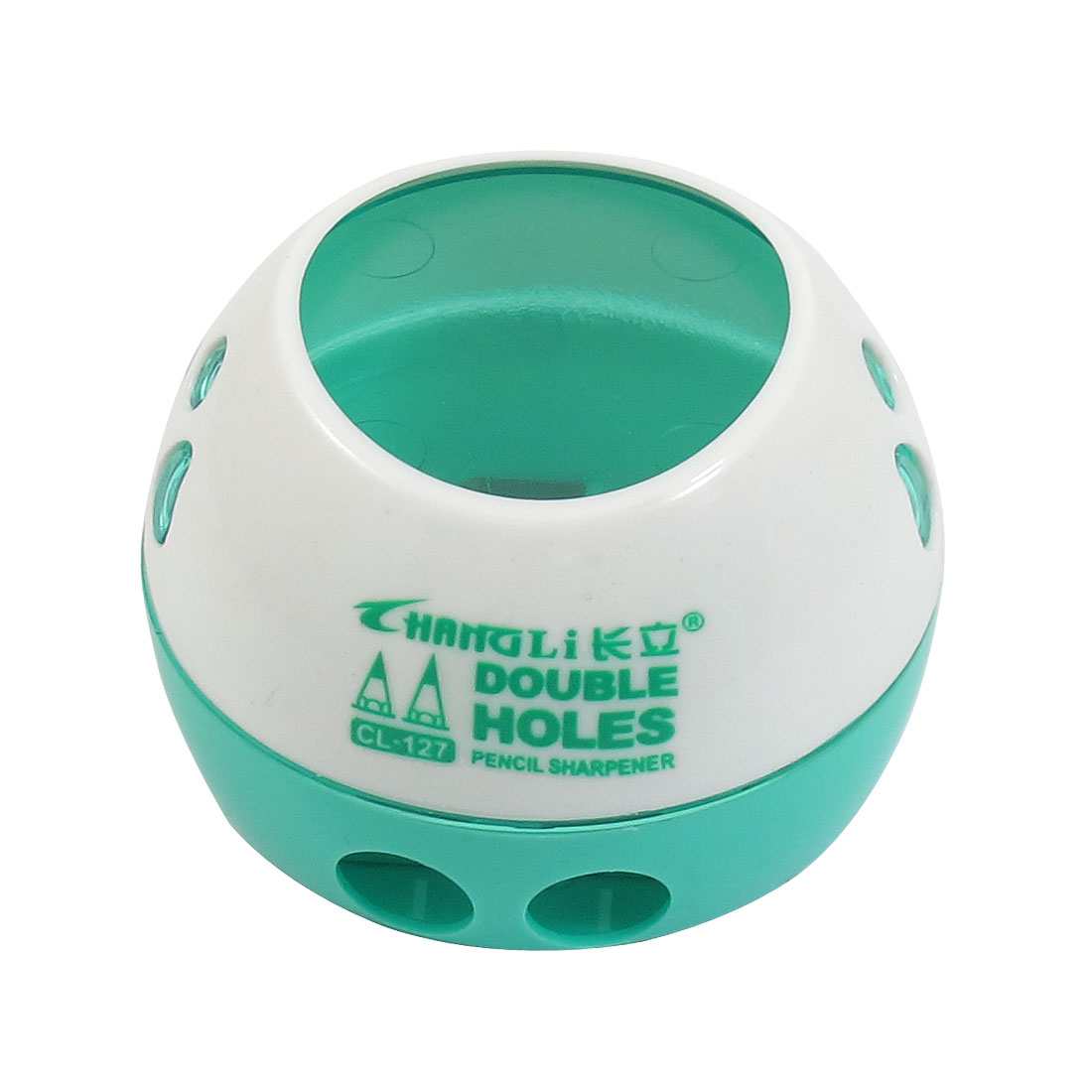Home Round Shavings Container Green White Pencil Sharpeners