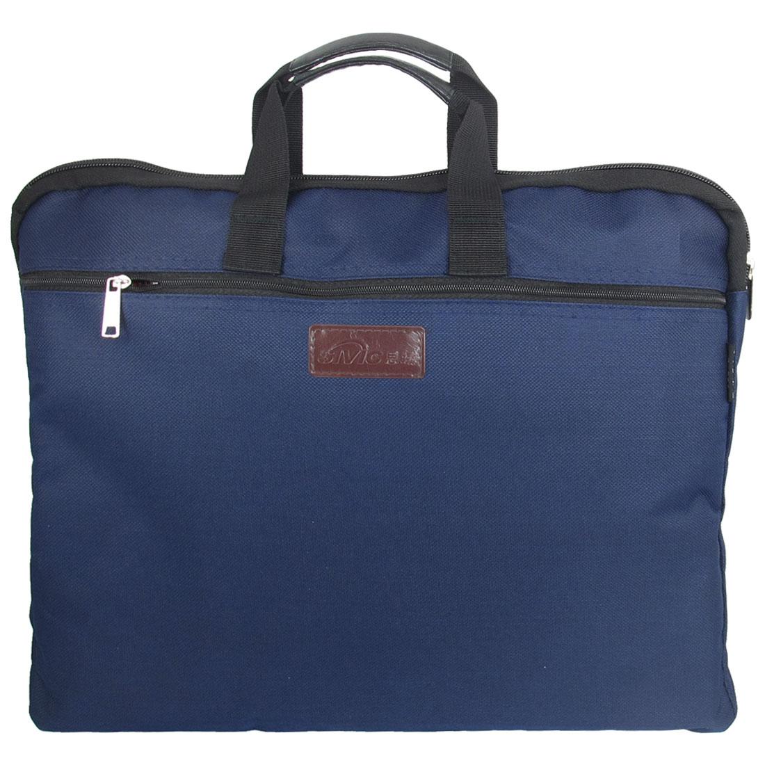 "Dark Blue Nylon Sponge Meshy Zipper Notebook Laptop Sleeve Bag 14"" 14.1"""