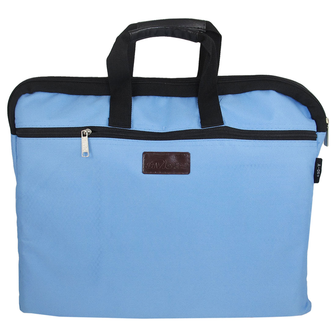 "Light Blue Nylon Sponge Meshy Zipper Notebook Laptop Sleeve Bag 14"" 14.1"""