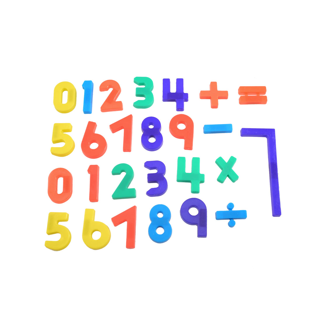 26 Pcs Colored Plastic Arabic Numbers Arithmetic Symbol Magnetic Stickers