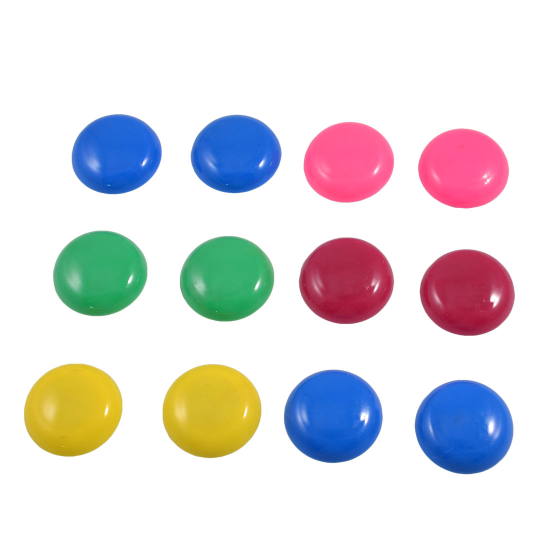 12 Pcs Assorted Colors Plastic White Board Refrigerator Magnets 1.2""