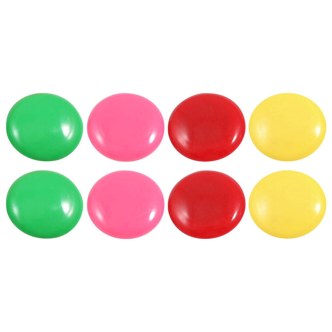 8 Pcs Colored Round Casing 40mm Dia Fridge Magnets Home Decoration