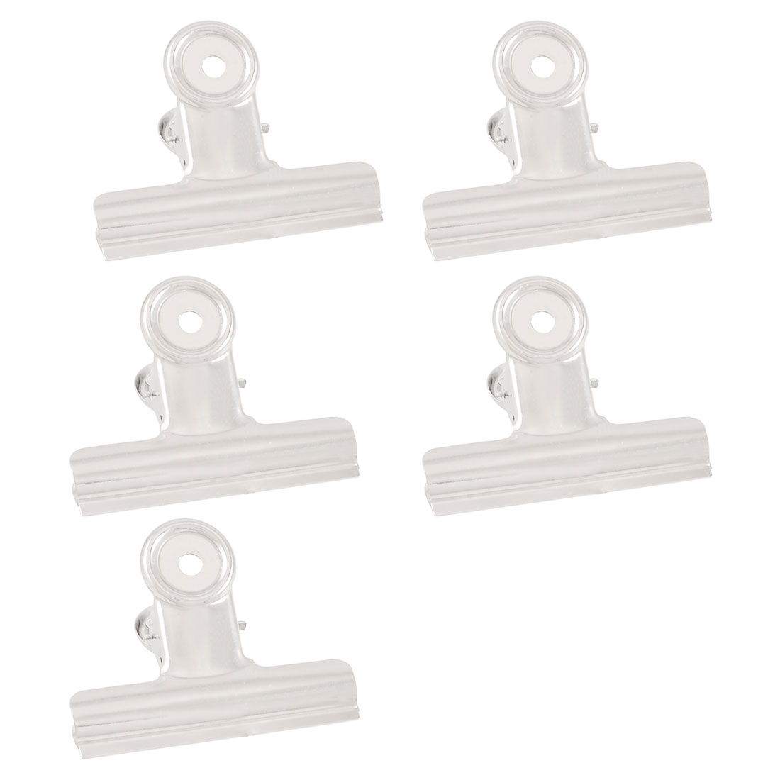Stationery Office School File 8.5cm Width Binder Clips Clamps 5 Pcs