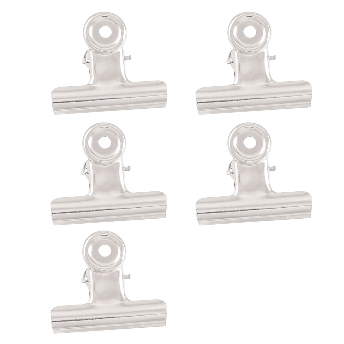 "5 Pcs Stainless Steel 2.4"" Width Document File Ticket Binder Clips"