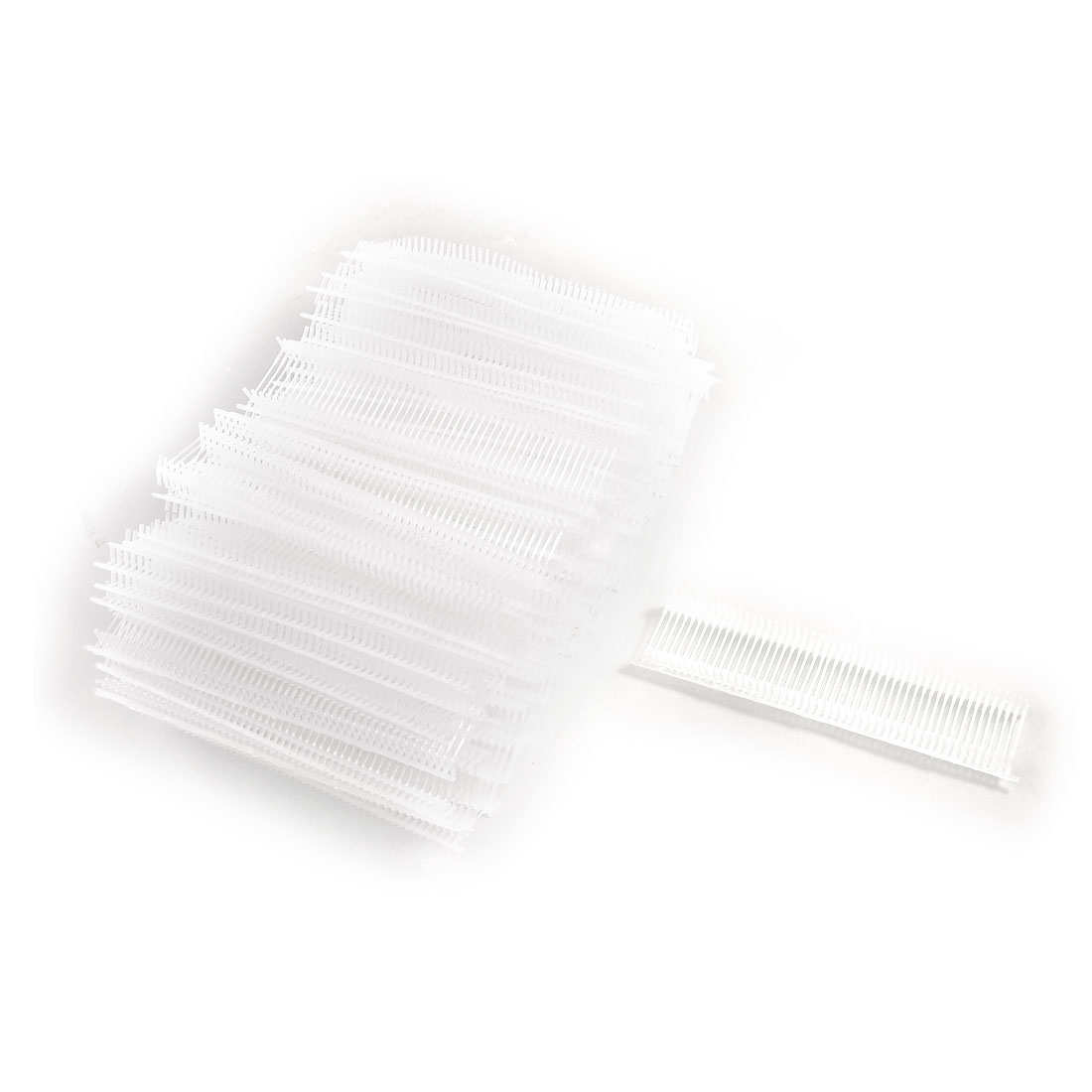 5000 Pcs Clear White Polypropylene Tag Pins 15mm Length for Tagging Gun
