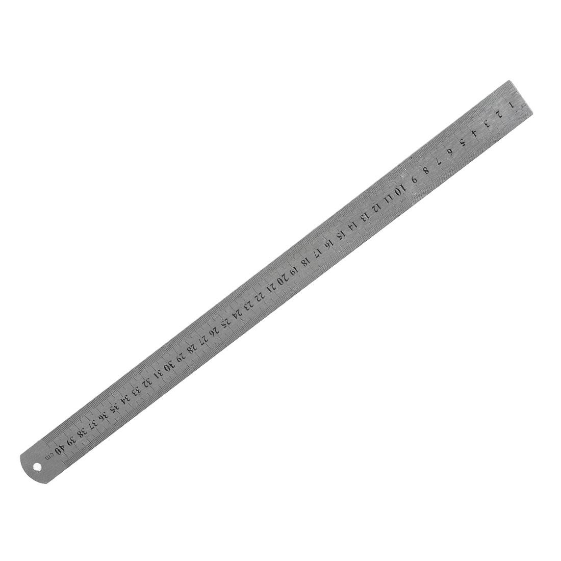 Stainless Steel 16 Inch Straight Ruler Measuring Kit Metric 40cm