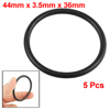 44mm x 3.5mm x 36mm Rubber Sealing Oil Filter O Rings Gaskets 5 Pcs