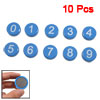 10 Pcs Magnetic Base Arabic Number Pattern Wash Machine Fridge Magnets Blue
