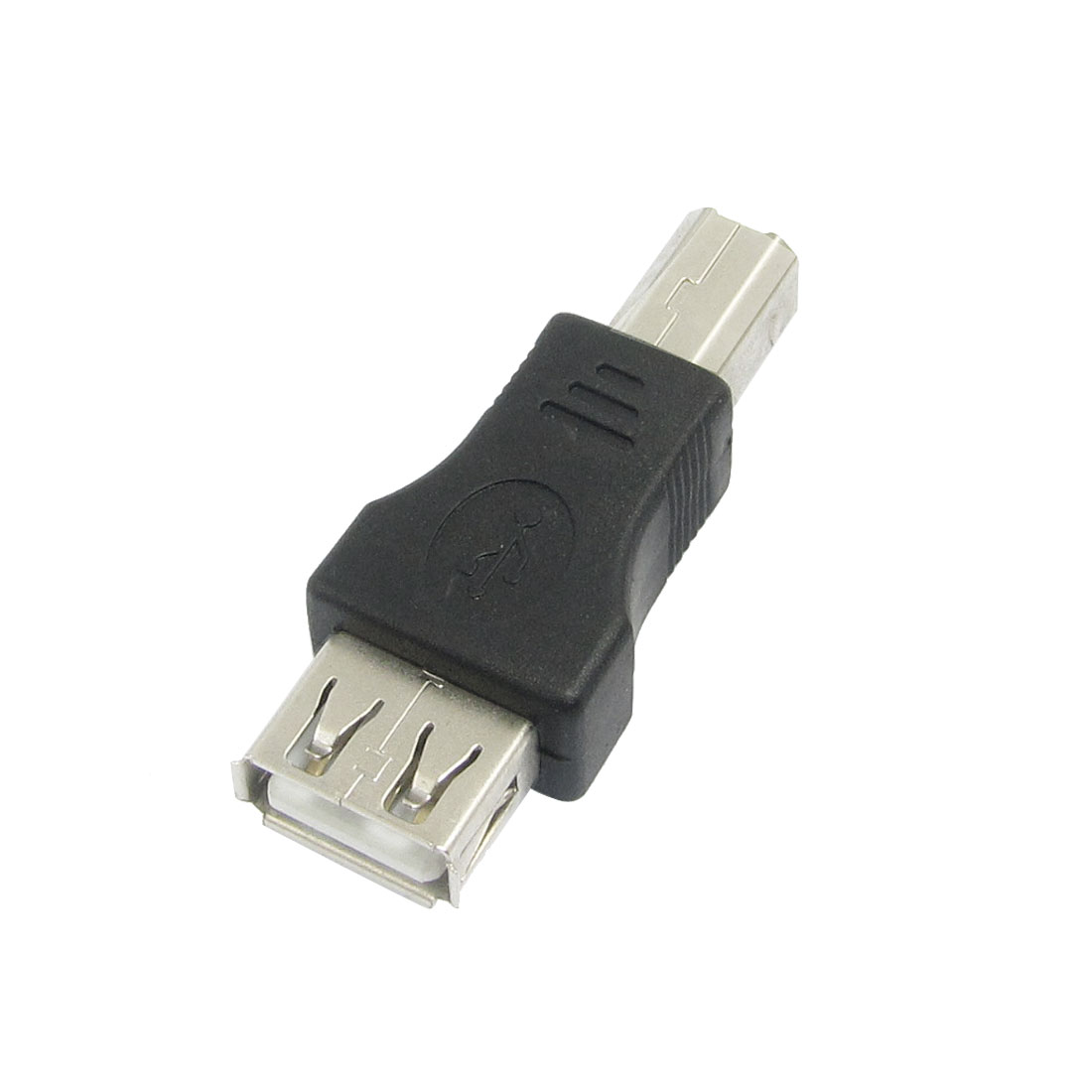 Printer USB A Female to USB Type B Male Adapter Black Silver Tone