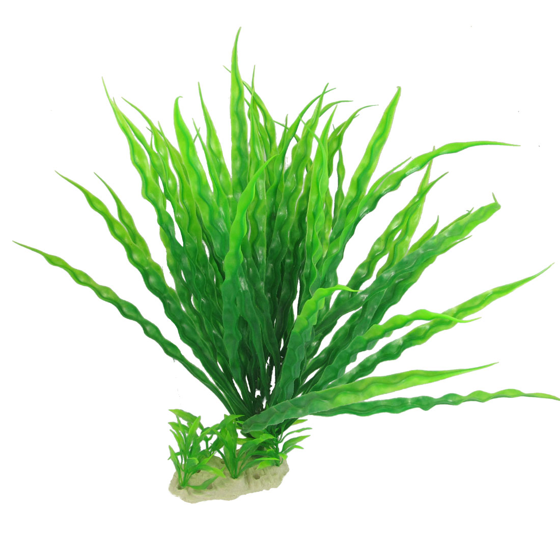 35cm Height Green Aquarium Fish Tank Plastic Waterweed Grass