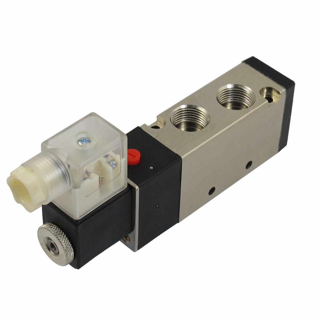 "DC 24V 125mA 3W 2 Position 5 Way Pneumatic Electromagnetic Solenoid Valve G1/4"" Exhaust"