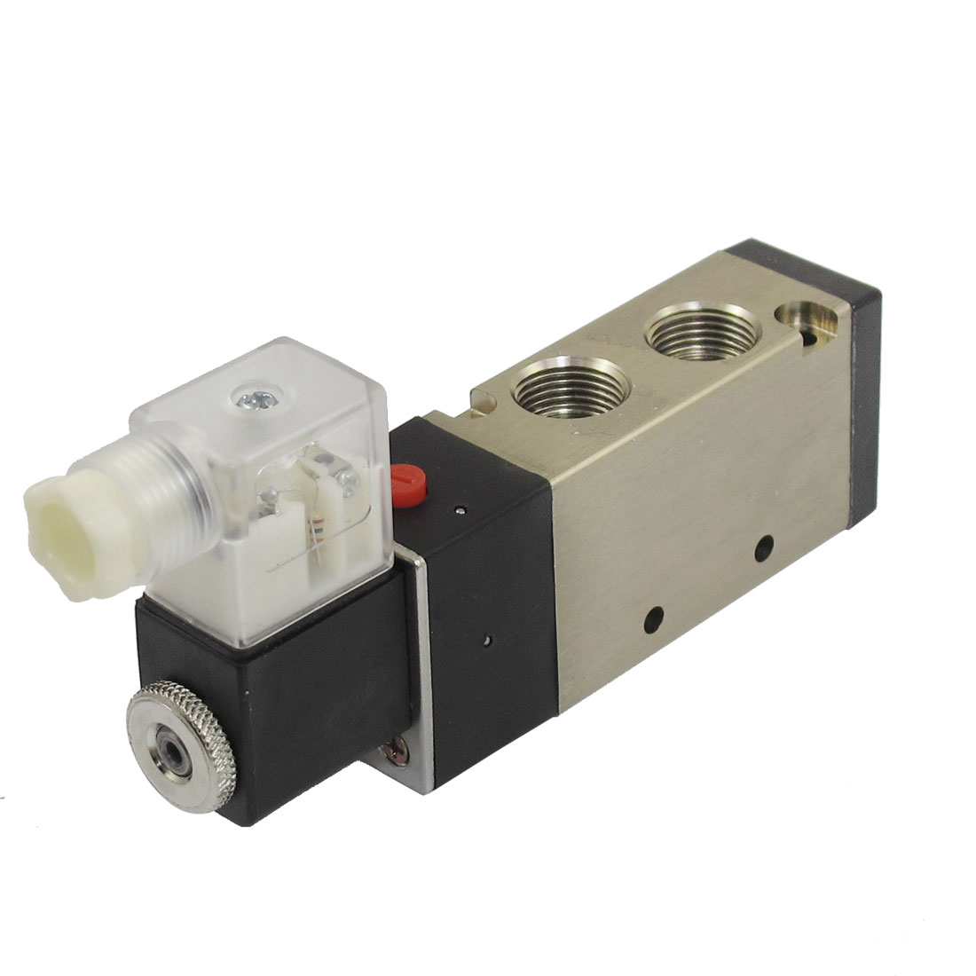 "DC 12V 3W 250mA 2 Position 5 Way Pneumatic Electromagnetic Solenoid Valve G1/4"" Exhaust"
