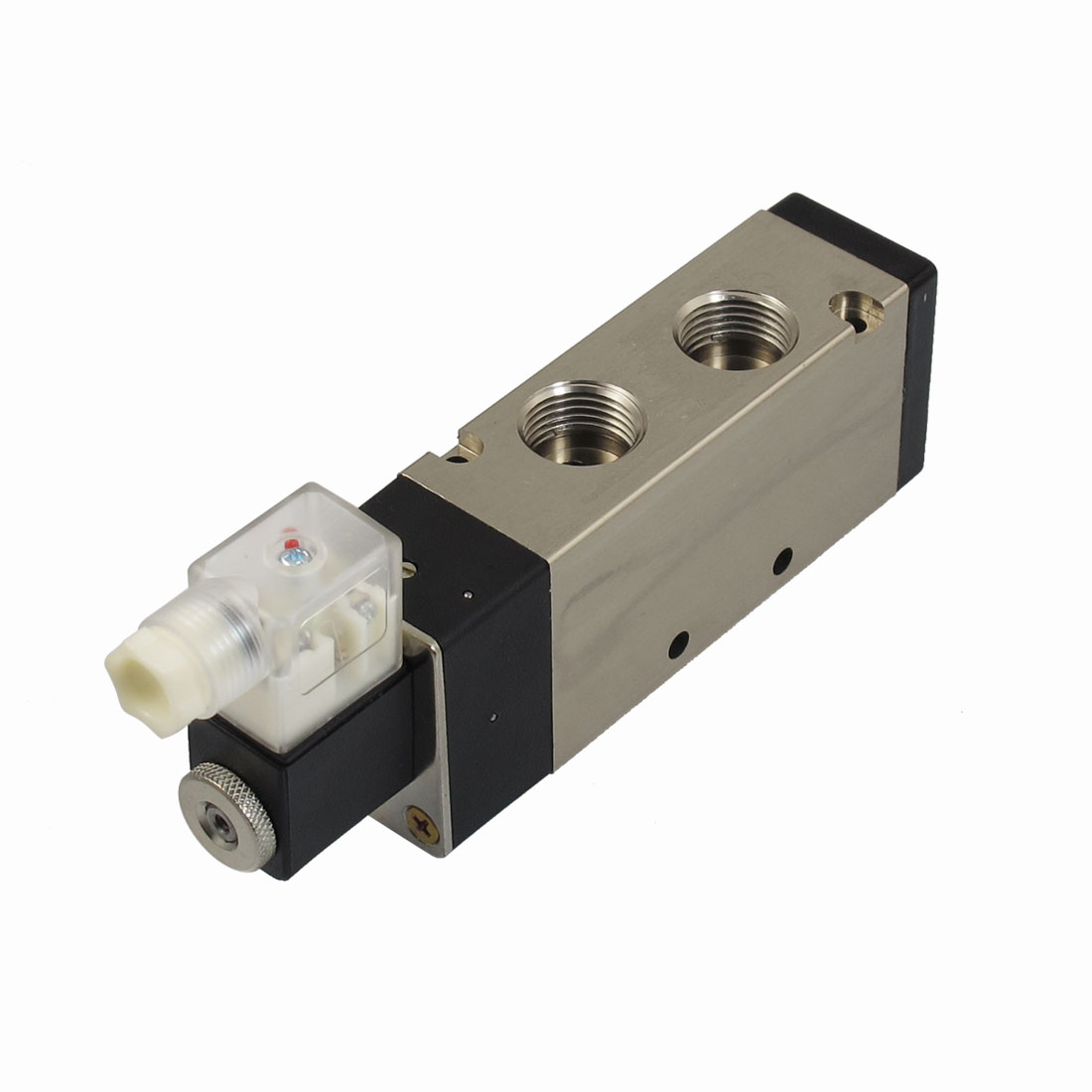 "AC 220V 2 Position 5 Way G1/2"" Exhaust Pneumatic Electromagnetic Solenoid Valve"