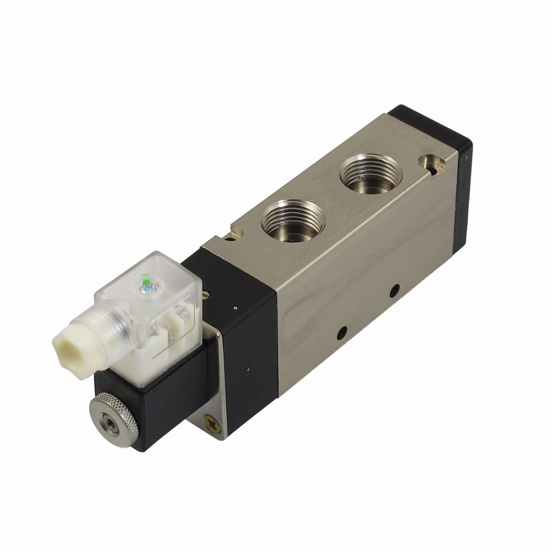 "DC 12V 3W 250mA 2 Position 5 Way G1/2"" Exhaust Single Head Electromagnetic Solenoid Valve"