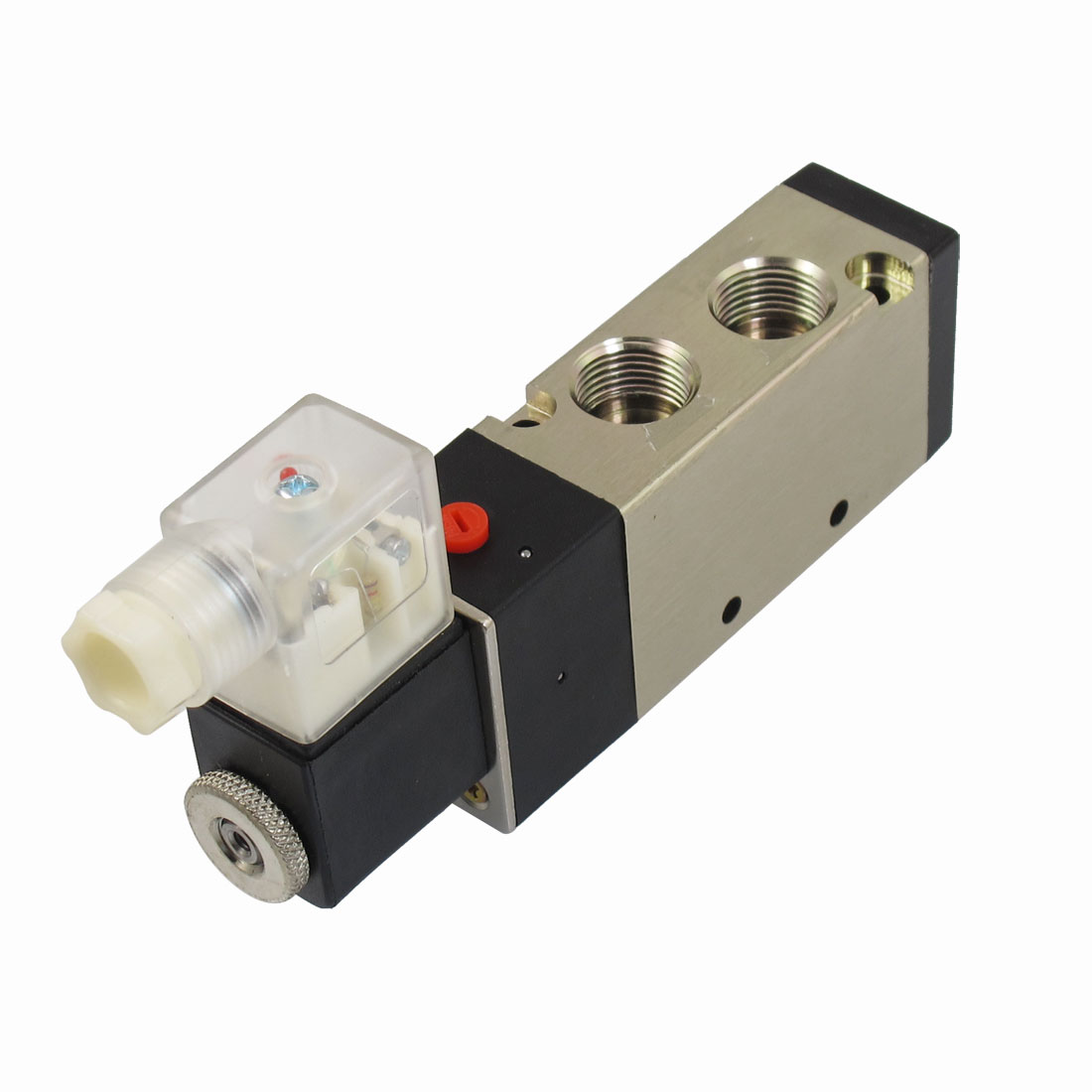 "AC 110V 4.5VA 25mA G1/4"" Exhaust 2 Position 5 Way Pneumatic Electromagnetic Solenoid Valve"