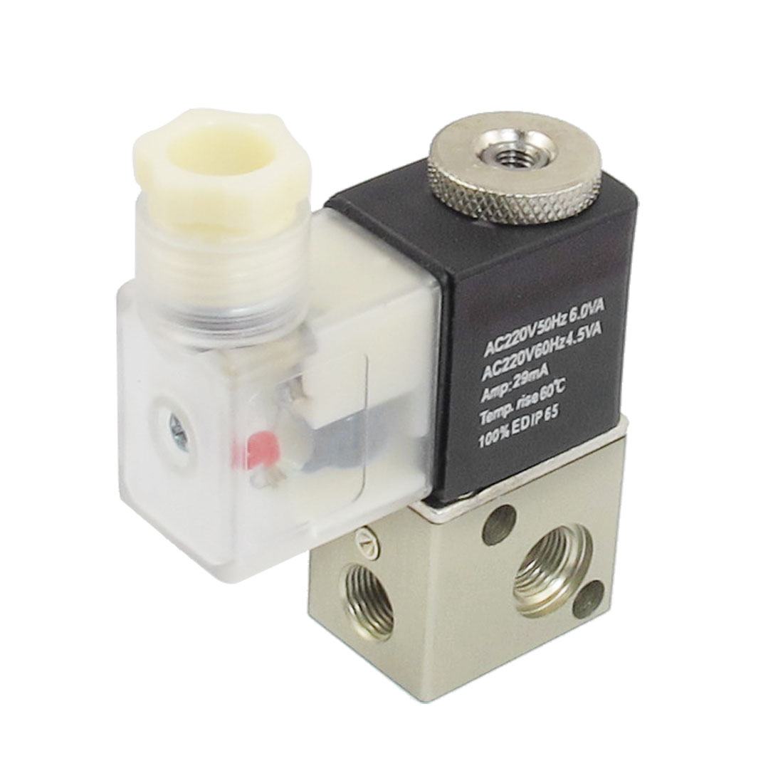 AC 220V 2 Position 3 Way Pneumatic Electromagnetic Solenoid Valve G1/8""