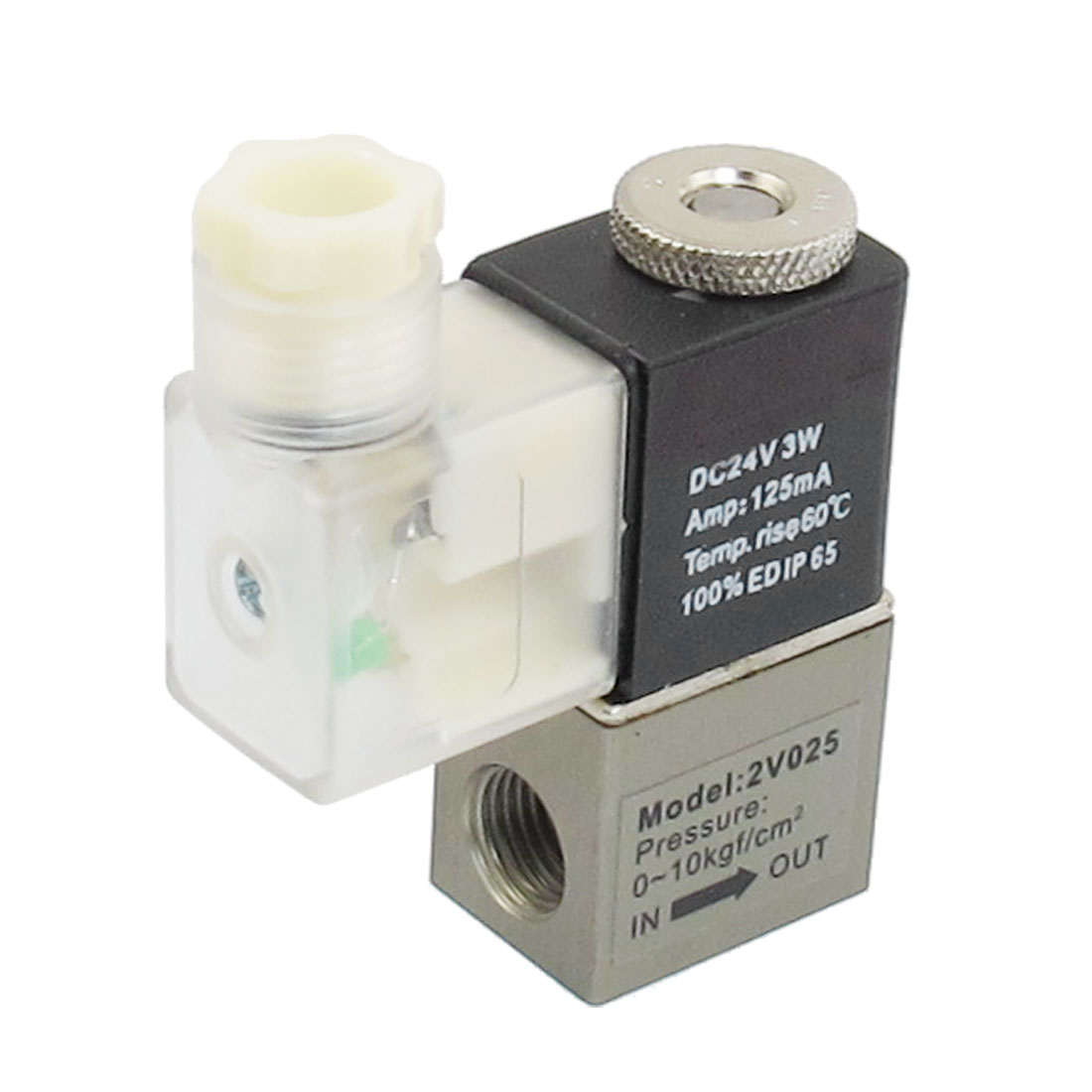 DC 24V 125mA 3W 2 Position 2 Way Pneumatic Electromagnetic Solenoid Valve G1/4""