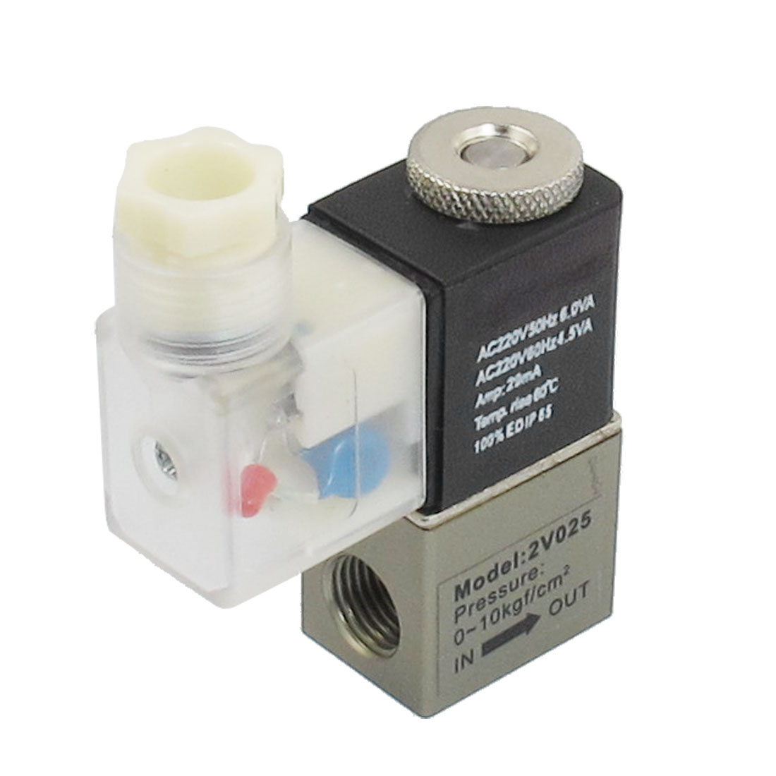 AC 220V 2 Position 2 Way Pneumatic Electromagnetic Solenoid Valve G1/4""