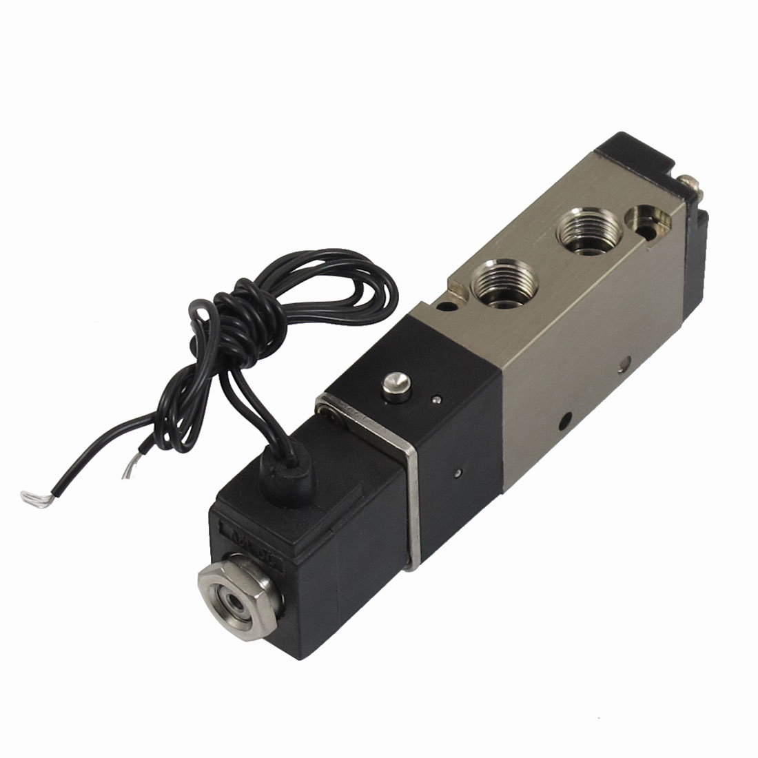 "DC 12V 2 Position 5 Way G1/8"" Outlet Pneumatic Electromagnetic Solenoid Valve w Cable"