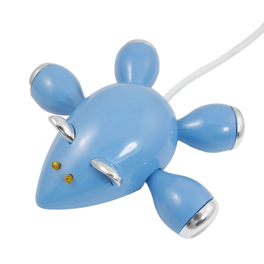 Blue Mouselet 4 Ports High-Speed USB 2.0 Hub Splitter Cable Adapter