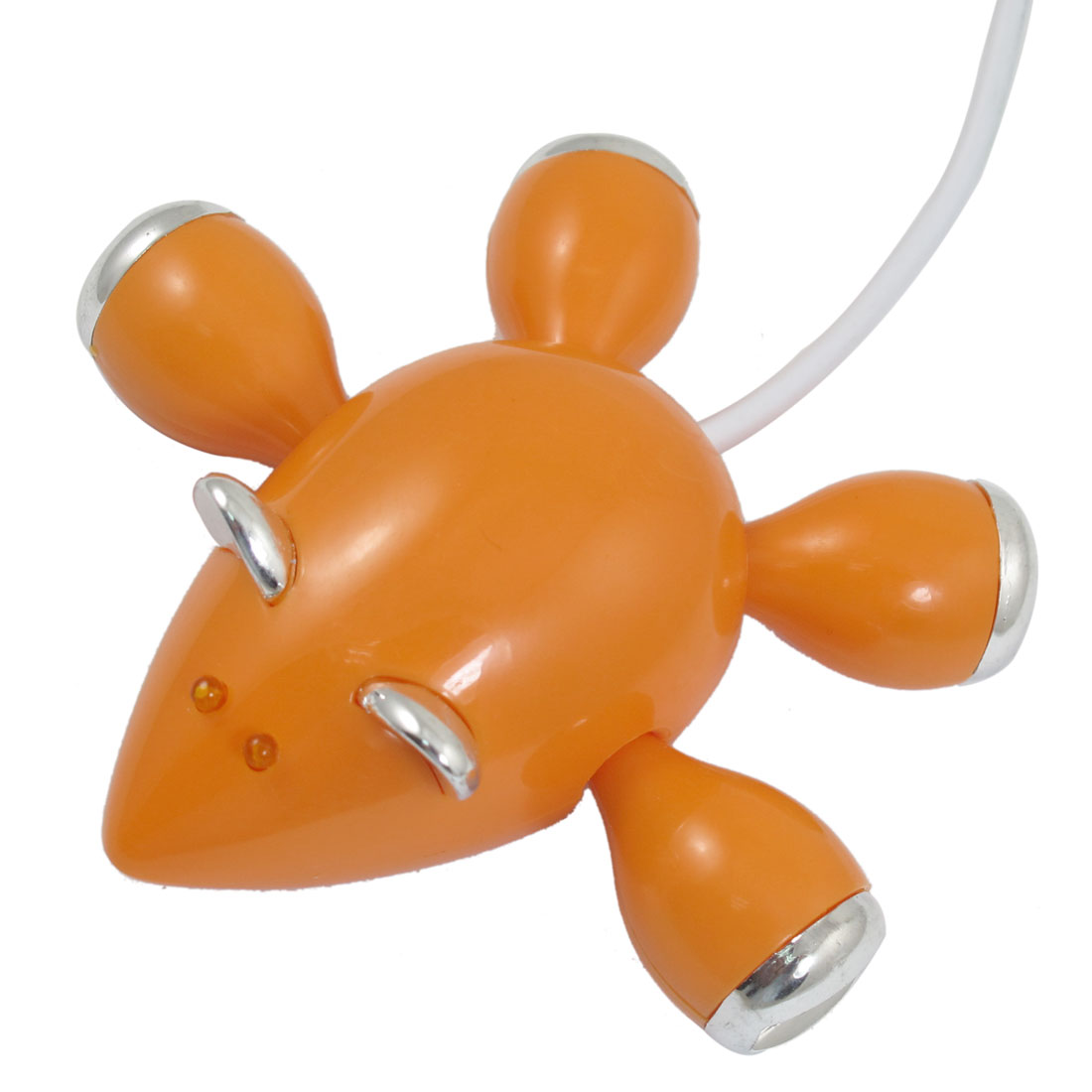 Orange Mouse 4 Ports High-Speed USB 2.0 Hub Splitter Cable Adapter