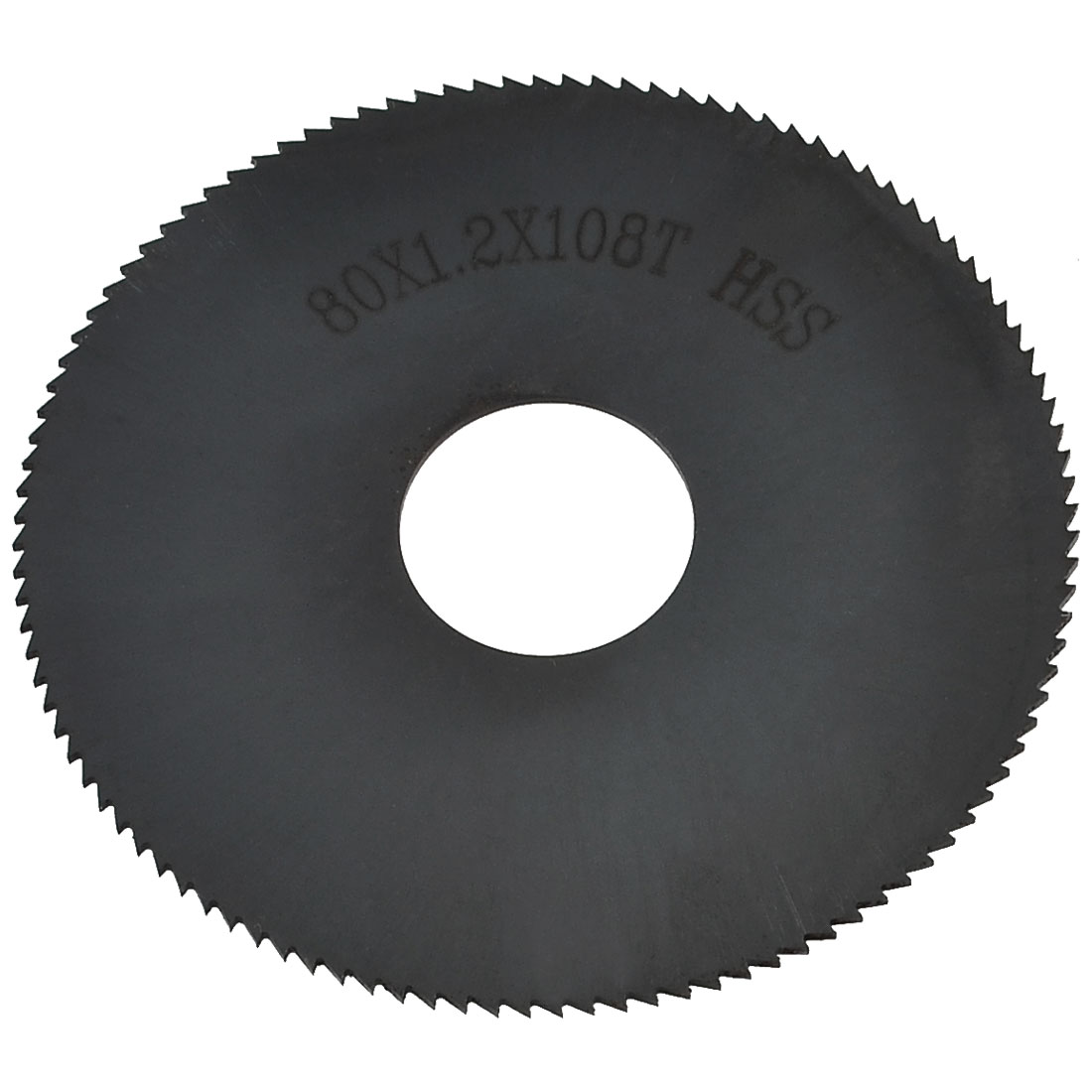 Black HSS Round Slitting Saw Cutter 108T 80mm Outside Diameter
