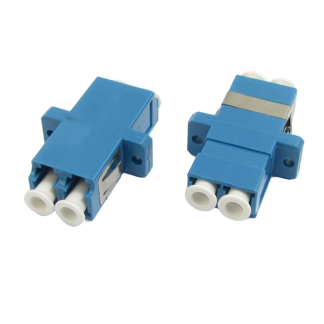 LC to LC Duplex Flange Fiber Optic Connector Adapter Coupler 2 Pcs