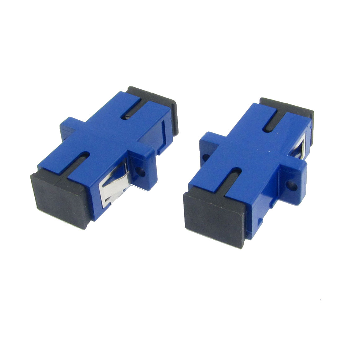 2 x Blue SC/SC Multimode Simplex Flange Fiber Optical Connector Adapter Coupler