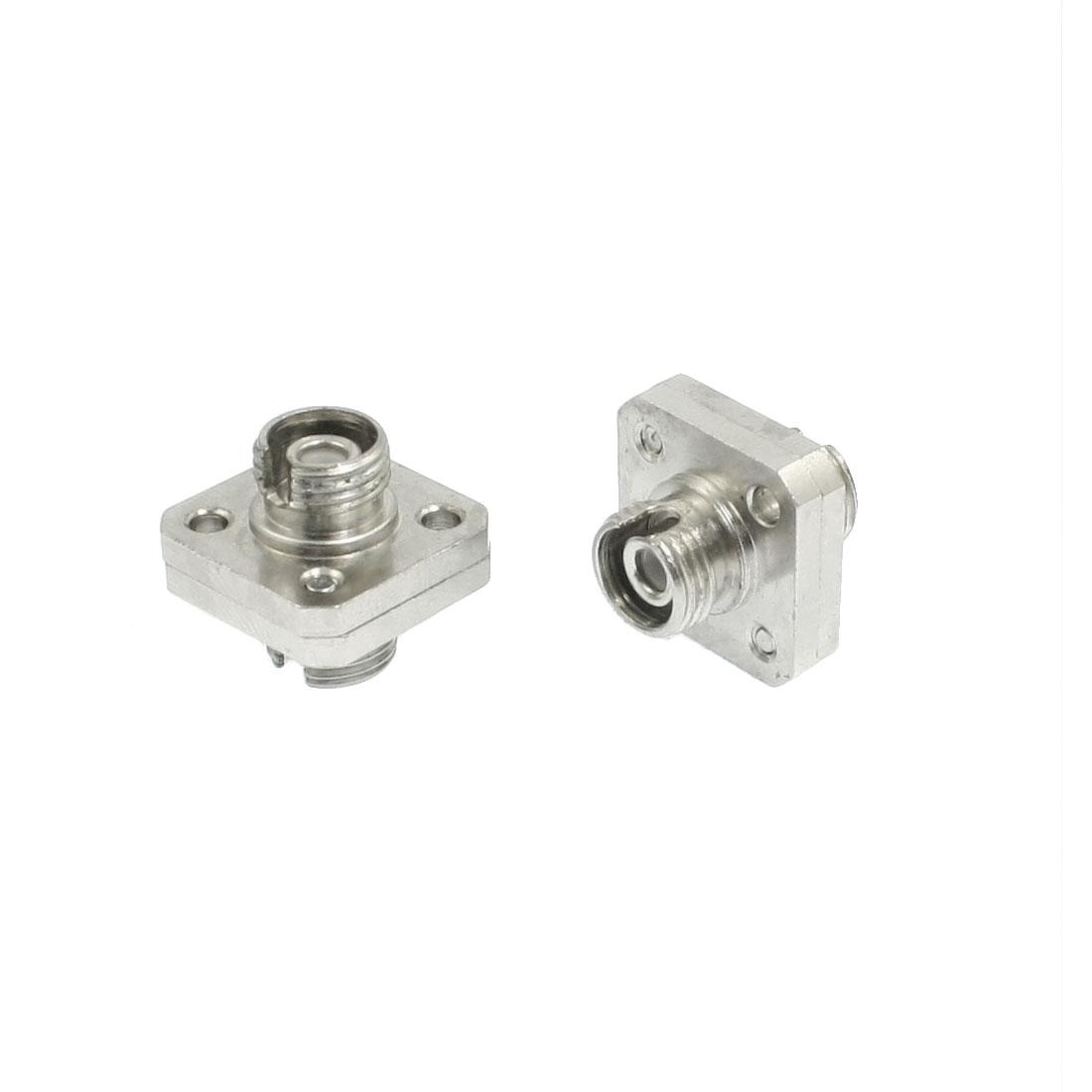 15mm x 15mm Flange Type FC Fixed Fiber Optic Attenuator Adapter 2Pcs