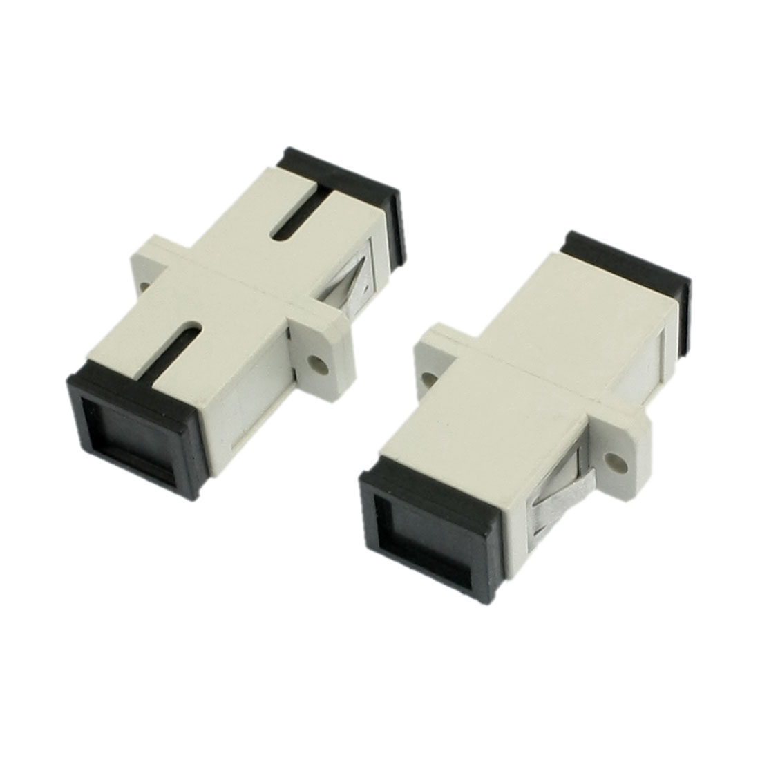 SC/SC Multimode Simplex Flange Fiber Optical Connector Adapter Coupler 2 Pcs