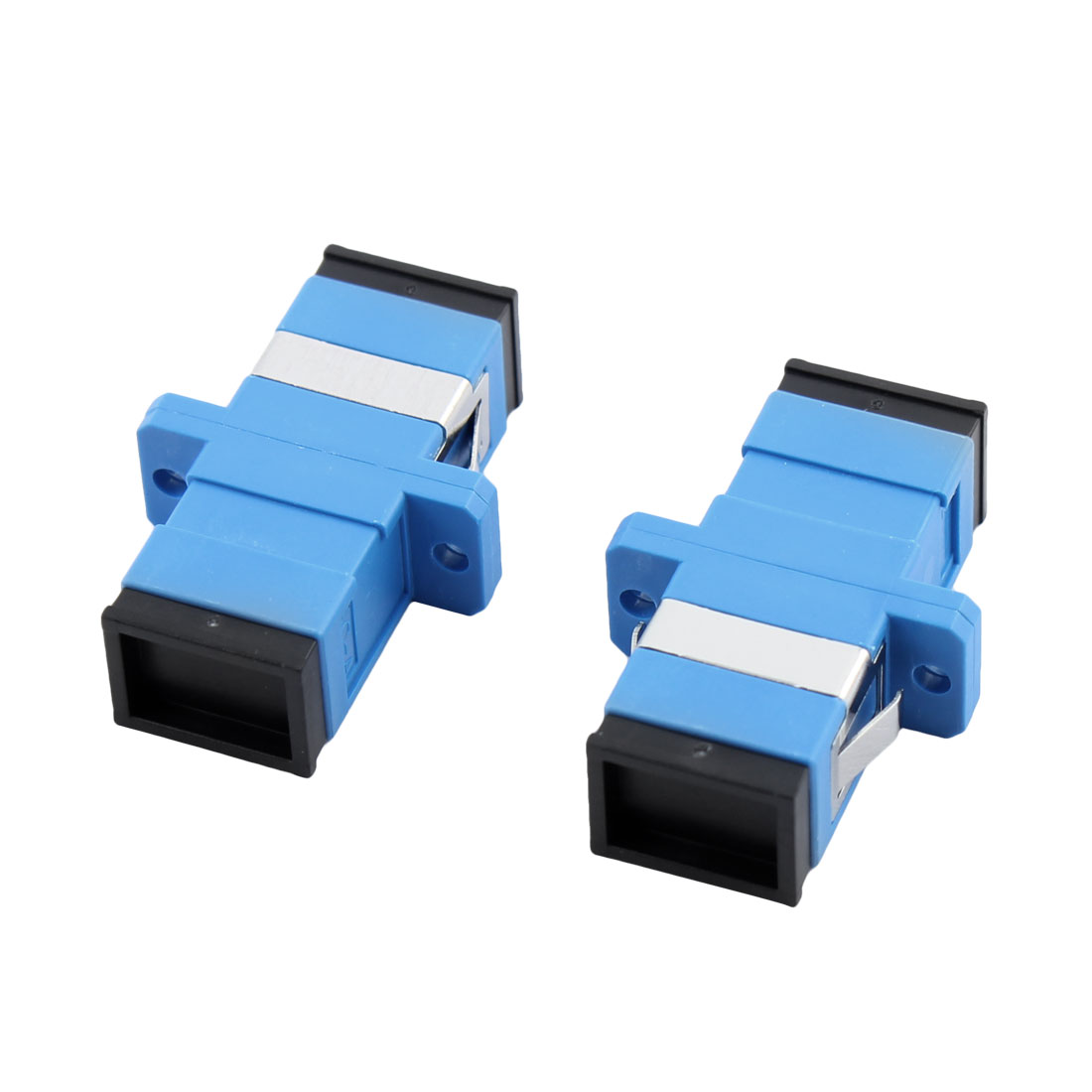 SC/SC Flange Fiber Optical 5 DB Attenuator Connector Adapter Coupler 2 Pcs