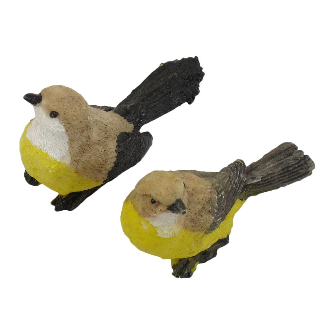 Pair Ceramic Birds Shaped Fish Tank Aquarium Ornament