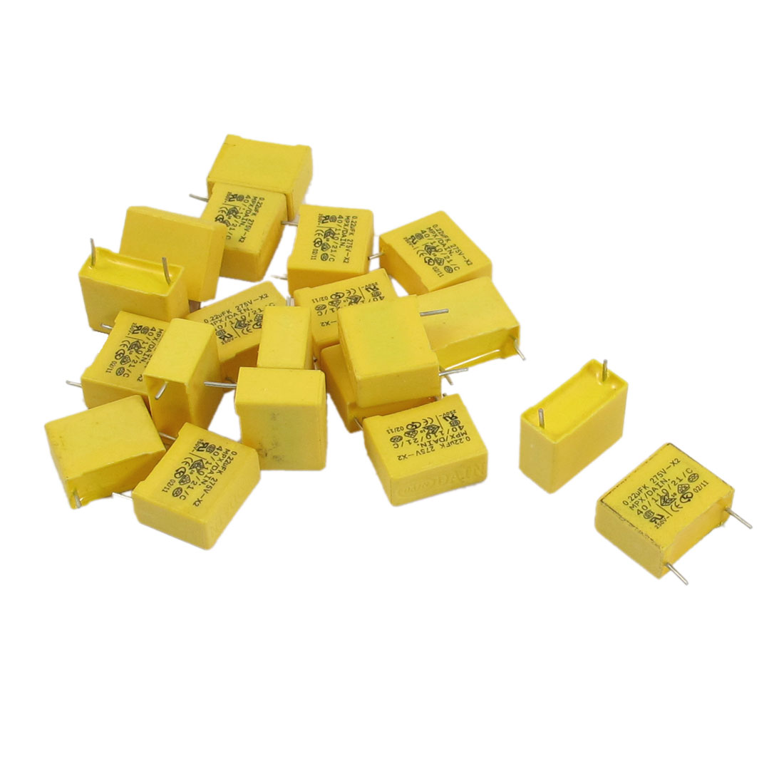 20 x 0.22uF AC 275V 10% Tolerance X2 Safety Polypropylene Film Capacitors