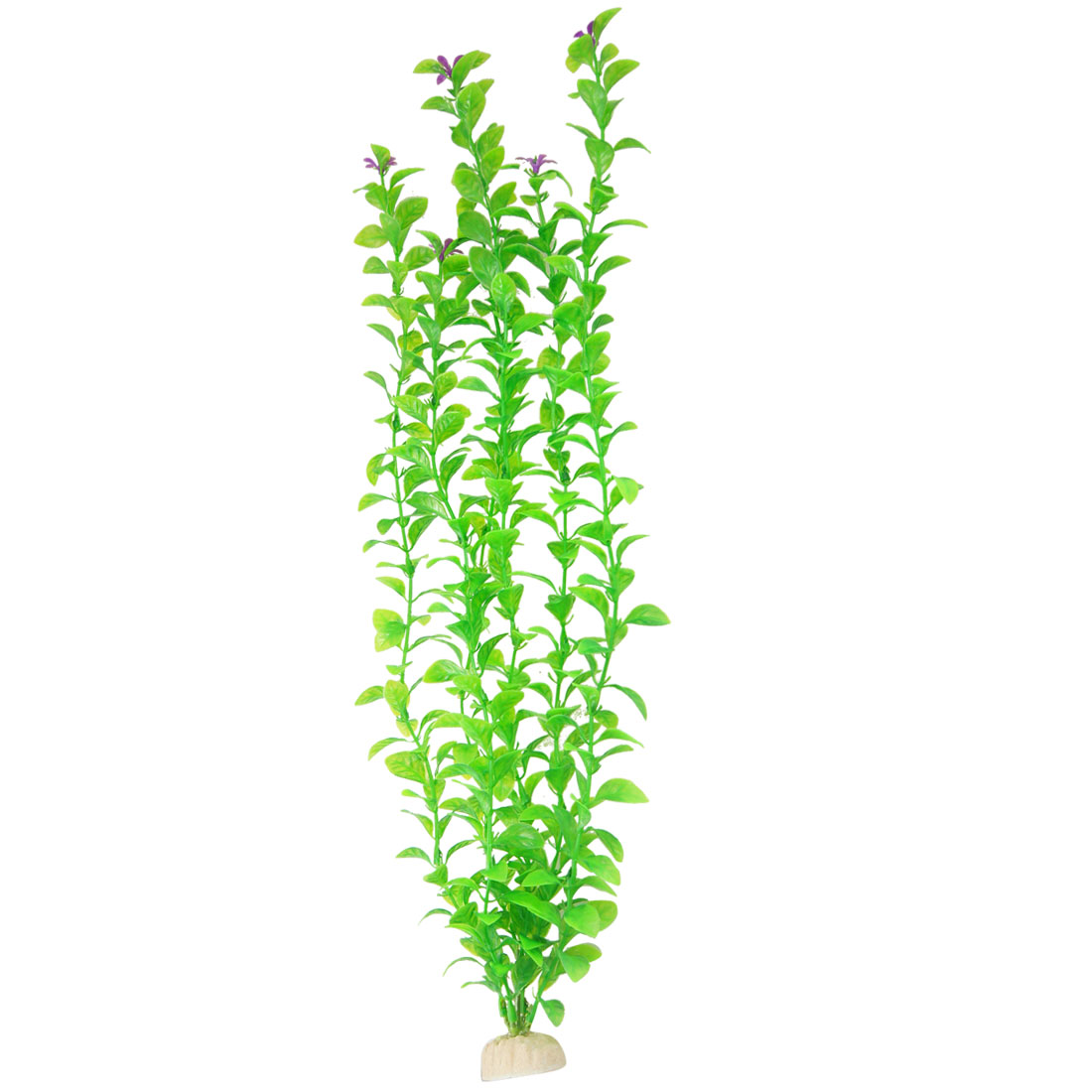 "19.7"" Height Plastic Purple Flowers Accent Green Water Grass Plant for Fish Tank Aquarium"