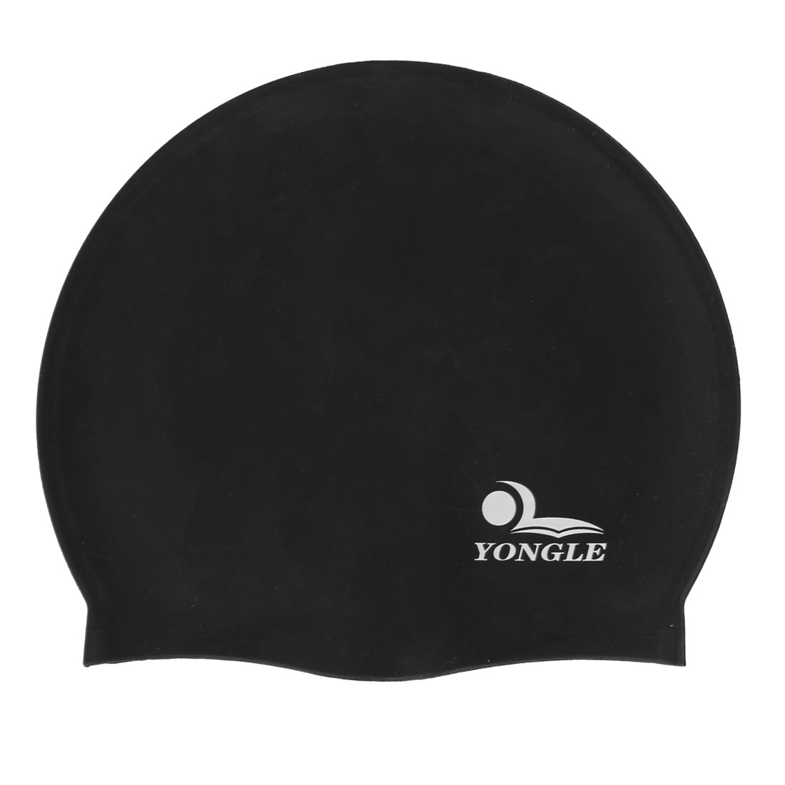 Men Women Black Flexible Silicone Swim Swimming Cap Hat