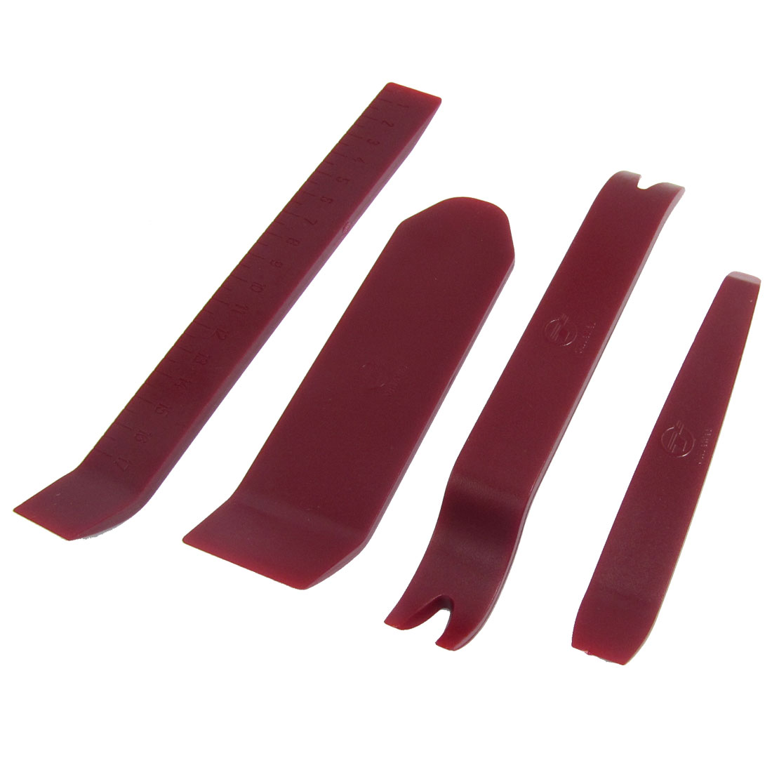 Car Audio Radio Plastic Trim Molding Pry Bar Removal Tool Burgundy 4 in 1