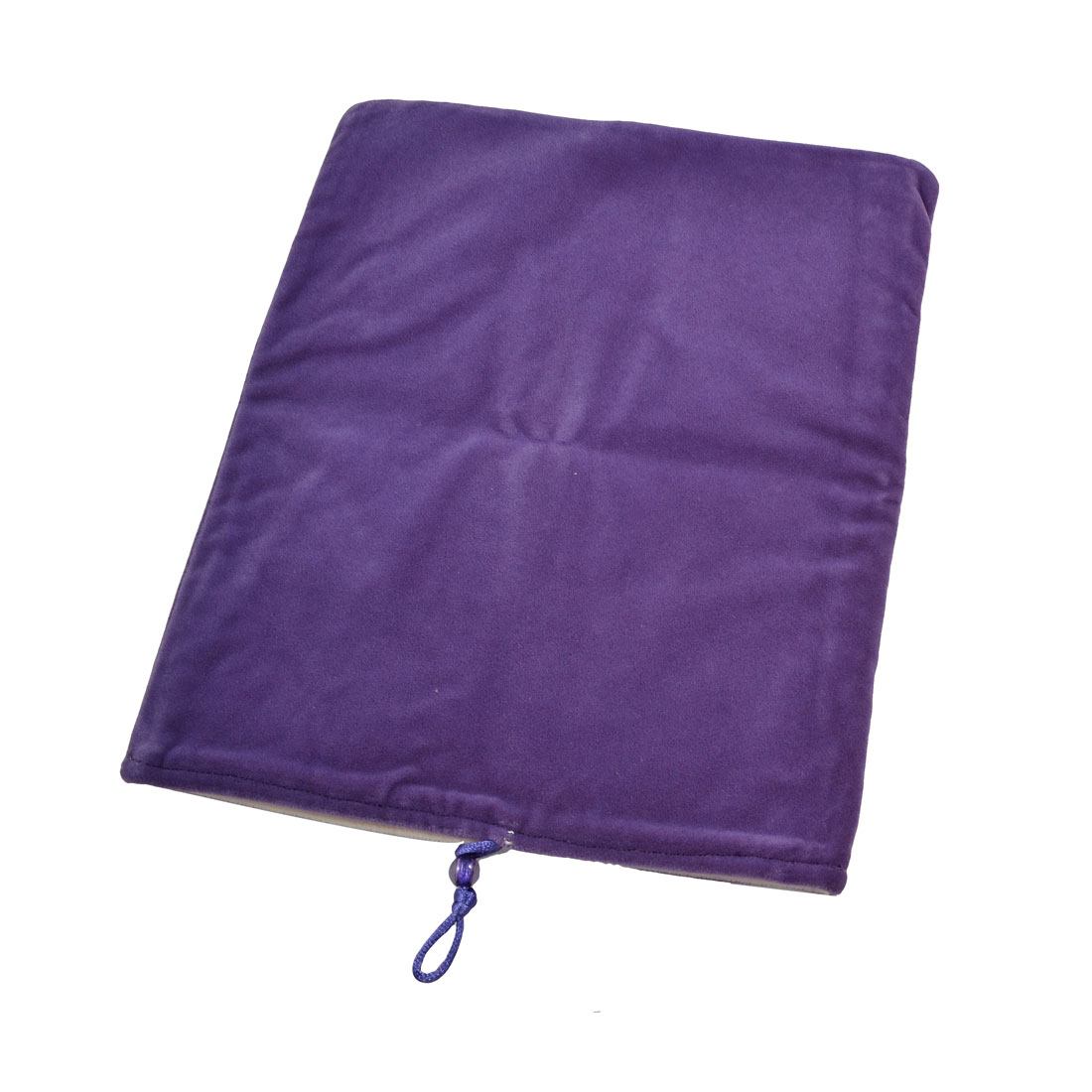 Purple Flannel Rectangle Shaped Pouch Case