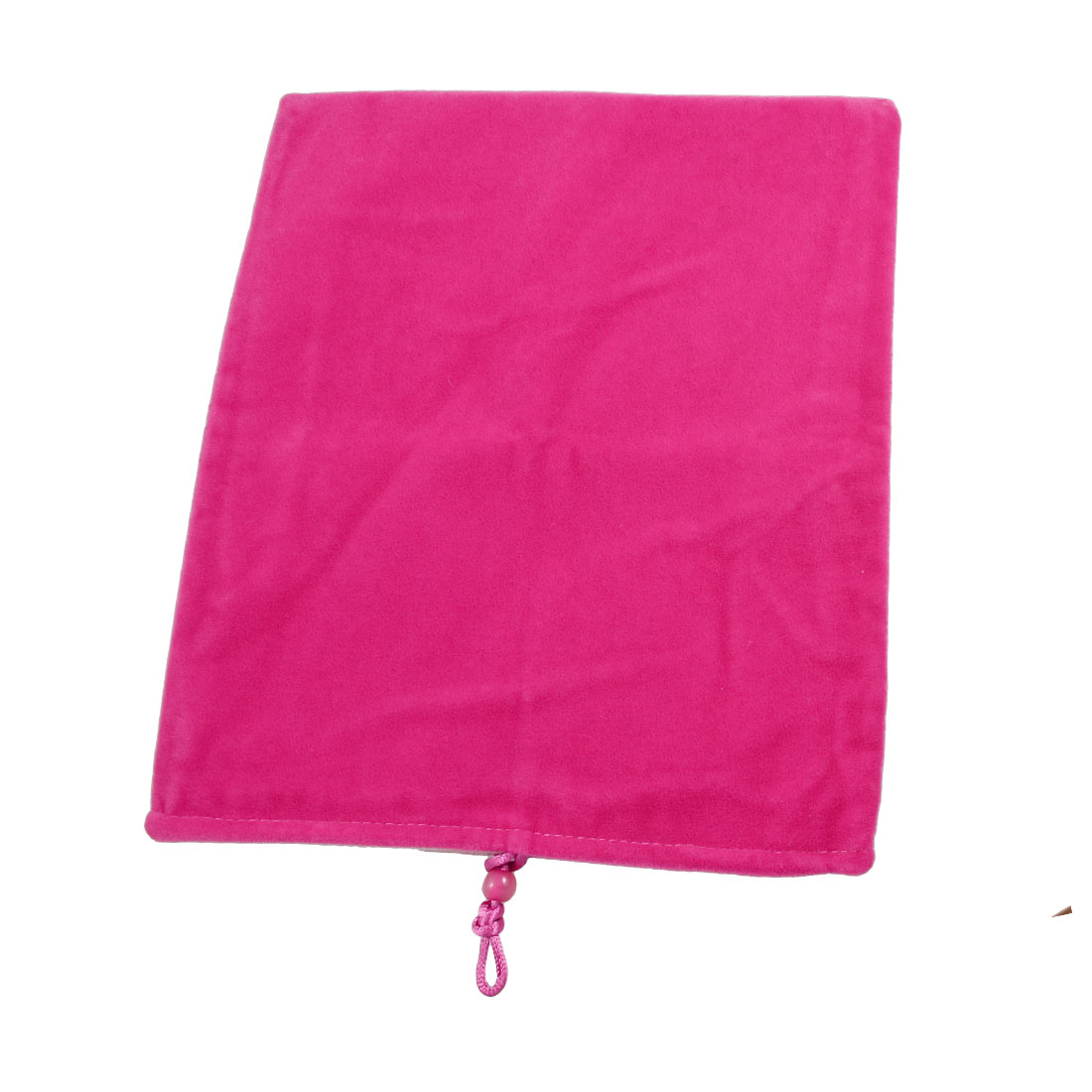 "9.6"" x 8"" Flannel Pouch Bag Protector Fuchsia for 9.7"" 10"" Tablet PC"