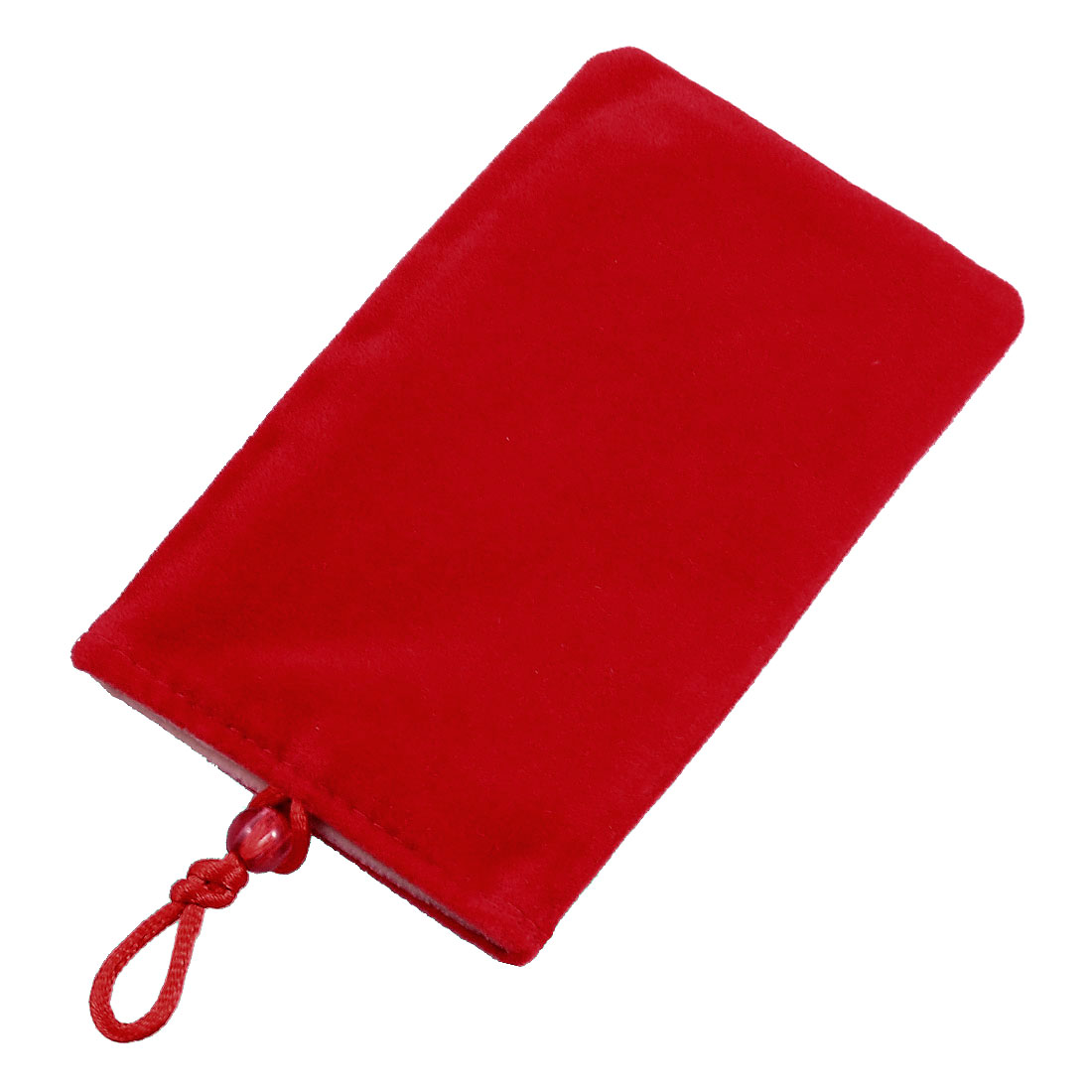 "5.3"" x 3.3"" Beige Lining Red Flannel Pouch Protector for Phone"
