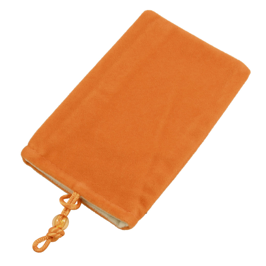 Bead Button Closure Orange Flannel Protective Holder Bag