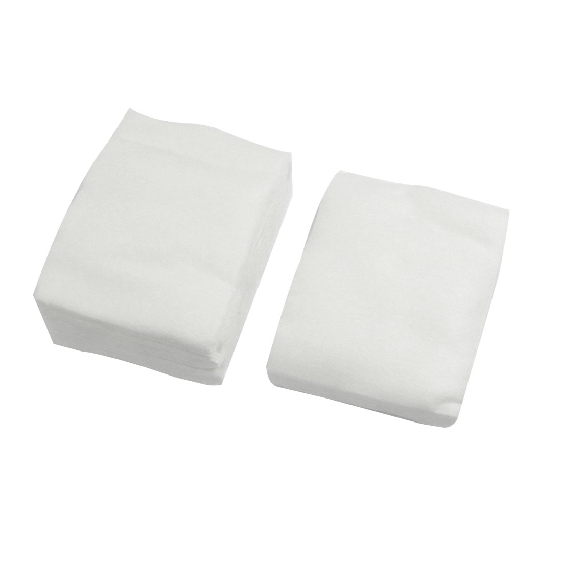 80 Pcs Cosmetic Makeup Tool White Soft Pad Non-woven Cotton Facial Puffs for Women Lady