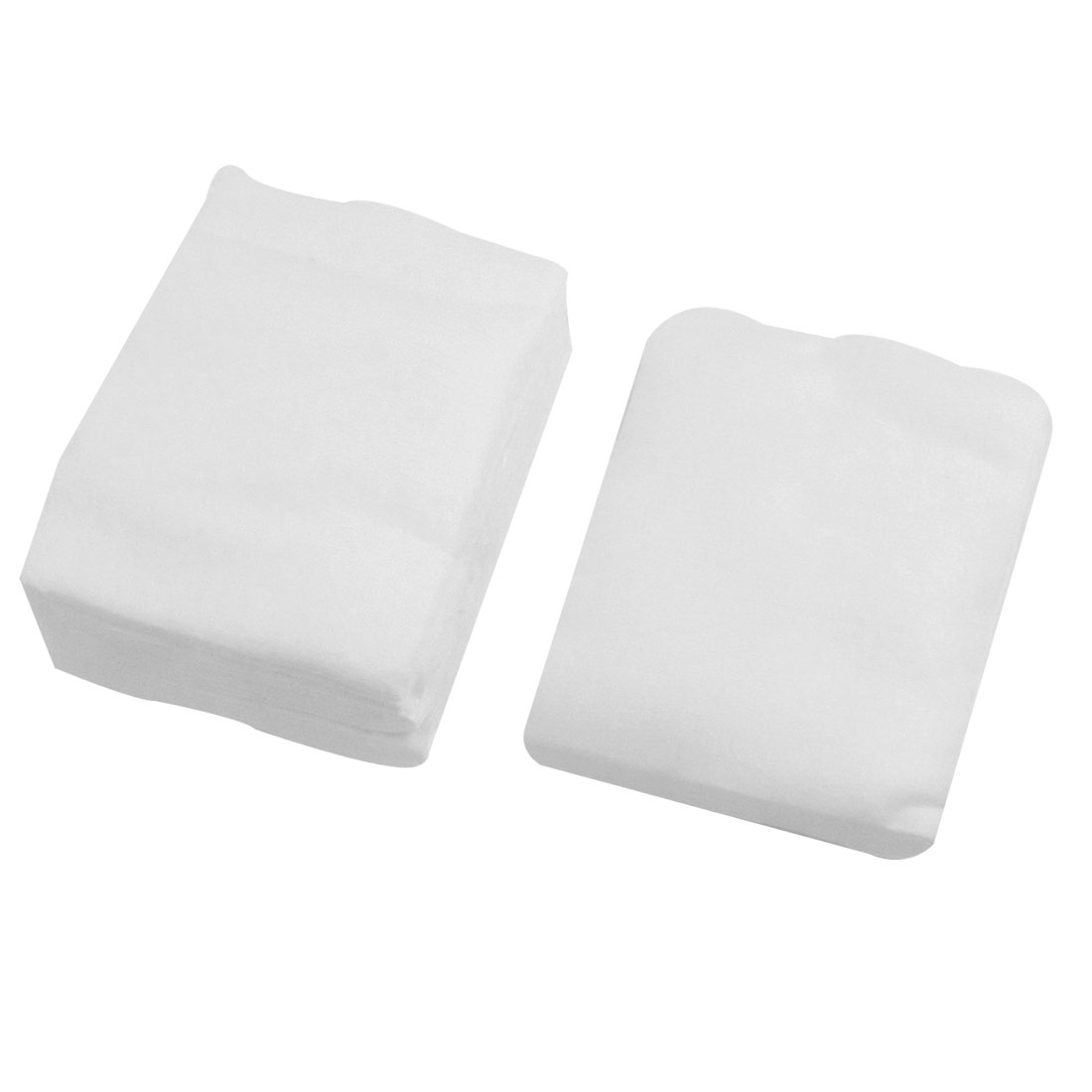 80 Pcs Soft Rectangle Facial Puffs Pads Cosmetic Tool for Woman