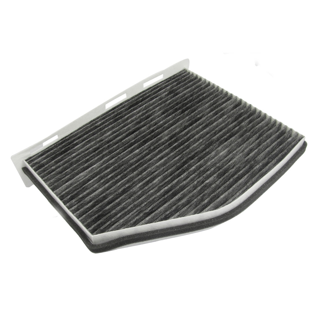 Black White Active Carbon Fiber A/C Cabin Air Filter for AUDI A3 II