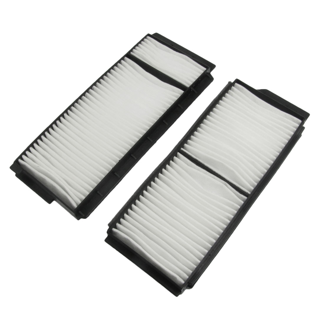 White Black Non Woven Cotton A/C Cabin Air Filter Set for Mazda 3